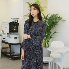 Envy Look - Tie-Neck Floral Long Dress