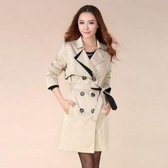 Hermina - Double-breasted Trench Coat