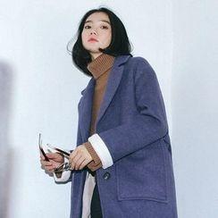 Porta - Plain Knit Coat