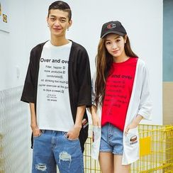 Evolu Fashion - Couple Matching Embroidered 3/4 Sleeve Light Jacket