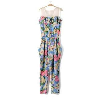 9mg - Floral Sleeveless Playsuit