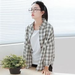 Forest Girl - Gingham Loose Fit Shirt