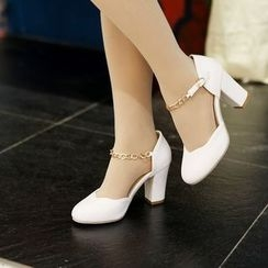 YOUIN - Chunky-Heel Paneled Sandals