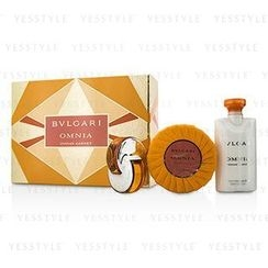 Bvlgari - Omnia Indian Garnet Coffret: Eau De Toilette Spray 15ml/0.5oz + Scented Soap 150g/5.3oz + Body Lotion 75ml/2.5oz