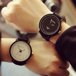 Tacka Watches - Couple Faux Leather Strap Watch