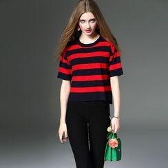 Queen Mulock - Striped Knit Top