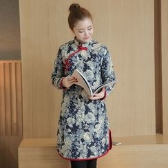 Supernova - Floral Print Quilted Cheongsam