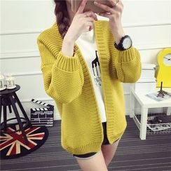 Loytio - Open Front Chunky Knit Cardigan