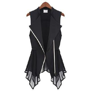 Eloqueen - Hanky-Hem Chiffon Vest