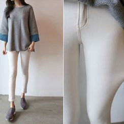Hello sweety - Brushed Fleece Lined Skinny Pants