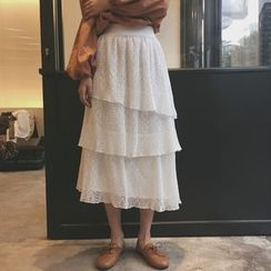 Eva Fashion - 接層蕾絲裙