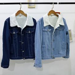 Cerauno - Fleece Lined Denim Jacket
