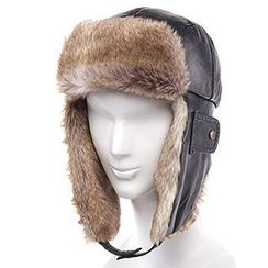 Thantrue - Genuine Lambskin Fleece-Lined Earflap Hat