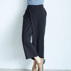 BAIMOMO - 宽腿短款裤