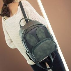 Youme - Rabbit Ear Applique Faux Leather Backpack
