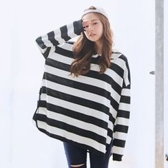 BAIMOMO - Oversized Hooded Pullover