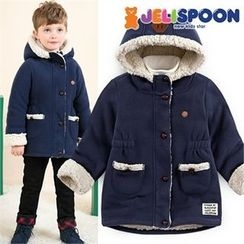 JELISPOON - Kids Hooded Fleece-Lined Coat