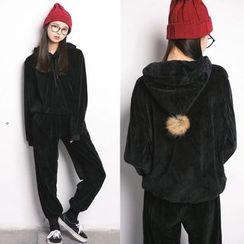 Sakura Rain - Set: Hooded Jacket + Pants