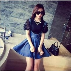 AIGIL - Denim A-Line Jumper Skirt