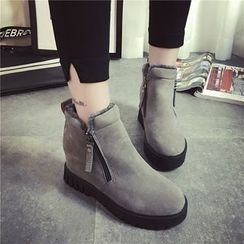 Zandy Shoes - Wedge Ankle Boots