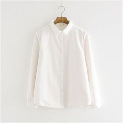 Storyland - Long-Sleeve Plain Blouse