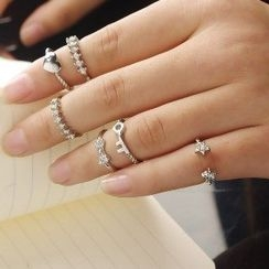 Seirios - Rhinestone Ring Set