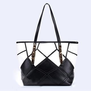 Exull - Faux-Leather Patchwork Tote