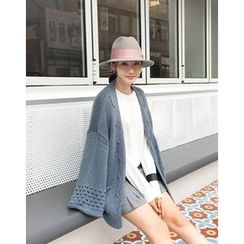 UPTOWNHOLIC - Flared-Sleeve Cable-Knit Cardigan