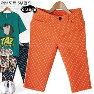 Miss Look - Dotted Cropped Pants