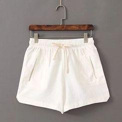 Acoustic Rain - Linen Drawstring Shorts