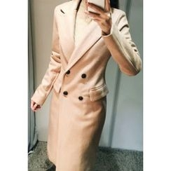 ATTYSTORY - Double-Breasted Wool Blend Coat