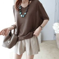 DAILY LOOK - V-Neck Knit Top