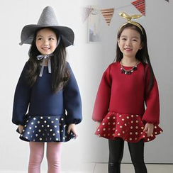 Seashells Kids - Kids Long-Sleeve Dotted Dress
