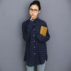 Aigan - Check Long Shirt