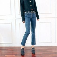 Seoul Fashion - Washed Blue Jeans