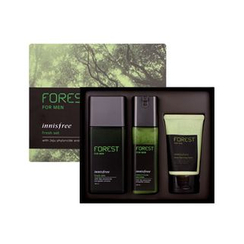 Innisfree - Forest For Men Grooming Set : Fresh Skin 180ml + Sebum & Trouble Zero Lotion 120ml + Deep Cleansing Foam 50ml