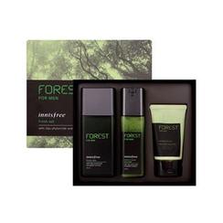 Innisfree - Forest For Men Grooming Set : Fresh Skin 180ml + Sebum & Trouble Zero Lotion 120ml + Deep Cleansing Foam 50ml
