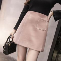 Sienne - Pocketed A-Line Skirt