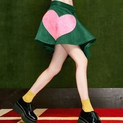 ELF SACK - Applique A-Line Skirt