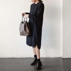 Seoul Fashion - Wool-Blend Shirtdress