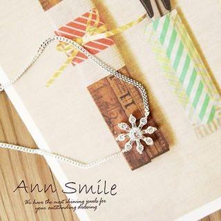 AnnSmile - Rhinestone-Snowflake Bracelet