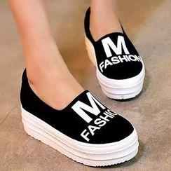 Gizmal Boots - 印字厚底轻便鞋