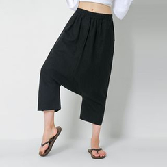 FASHION DIVA - Band-Waist Baggy Pants