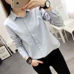 Cobogarden - Plain Long-Sleeve Shirt