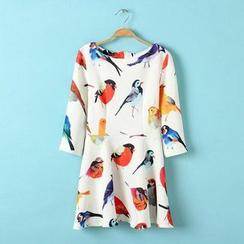JVL - Bird-Print Skater Dress