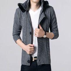 JEUX - Ribbed Knit Jacket