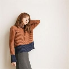 MAGJAY - Two-Tone Ribbed Sweater