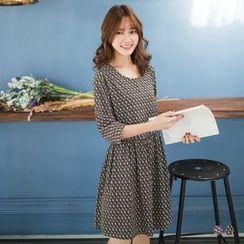 OrangeBear - Geo Print Chiffon Dress