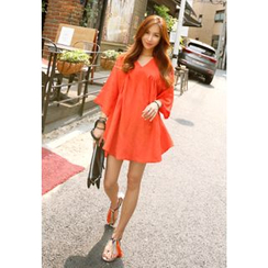 REDOPIN - 3/4-Sleeve A-Line Dress
