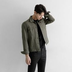 Seoul Homme - Pocket-Front Buttoned Jacket